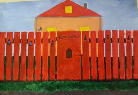Tiia märkas kaunist majakest ja selle punast aeda Nõmme teel.