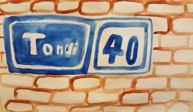 Georg joonistas üles kooli aadressi. See on oluline info küll, mis tuleb meelde jätta!:)
